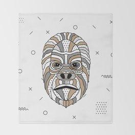 Gorilla Chocolat Throw Blanket