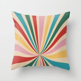 a tired rainbow Throw Pillow