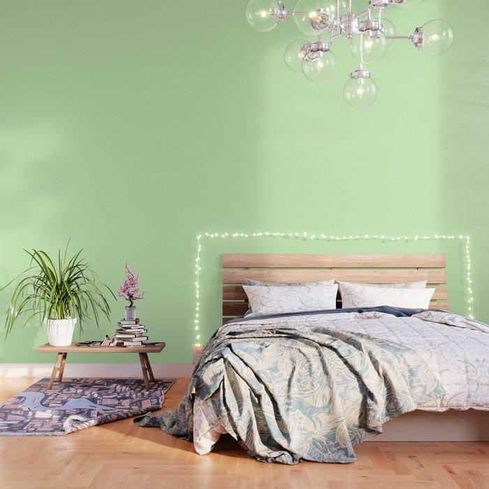 Simply Green Tea Green Wallpaper