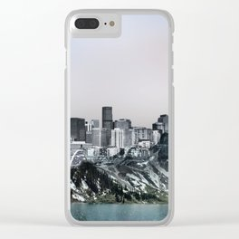 Denver Skyline Clear iPhone Case