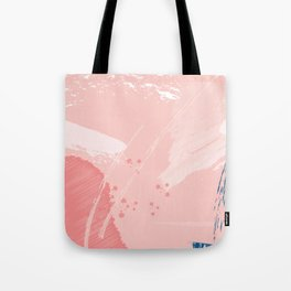 Kisses: a pretty abstract mixed media piece in pink and blue Tote Bag