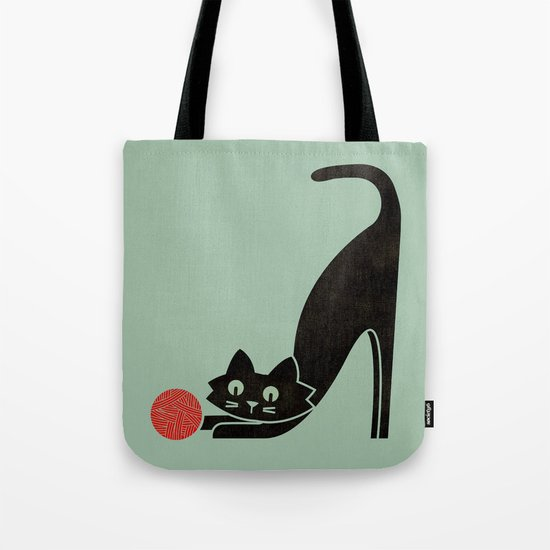 Fitz - the curious cat Tote Bag