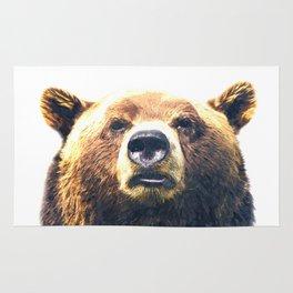 Bear portrait Rug