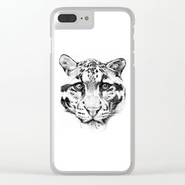 Himalayan Clouded Leopard Clear iPhone Case