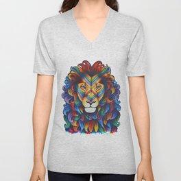 Mufasa in Technicolour Unisex V-Neck