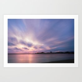 Pastel Color Sunset at Anse Vata Bay in New Caledonia. Art Print