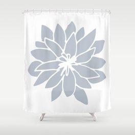 Flower Bluebell Blue on White Shower Curtain