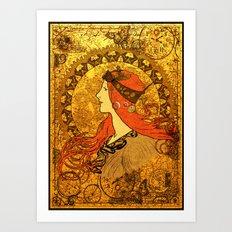 Steampunk Nouveau Art Print