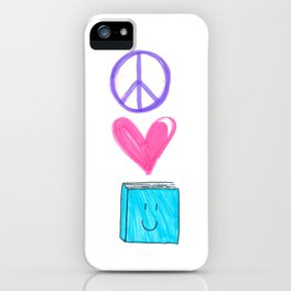 peace love and books iPhone Case