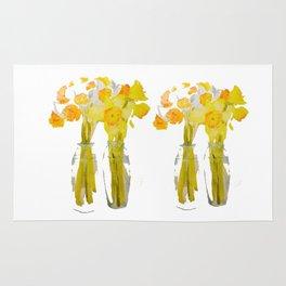 Daffodils watercolor Rug