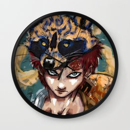 Abstract Gaara Wall Clock