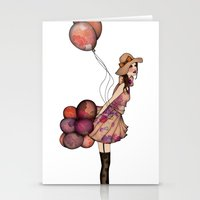 ballon Stationery Cards featuring Le Ballon // Birthday III by annabours