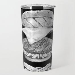 Burger Diagram (Black and White variant) Travel Mug