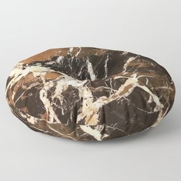 Sienna Brown and Black Marble With Creamy Veins Floor Pillow