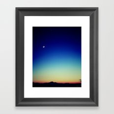 Jupiter, Moon and the Rockies Framed Art Print