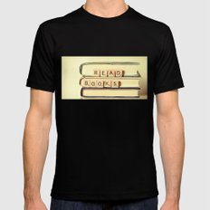 Read Books X-LARGE Black Mens Fitted Tee