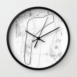 Autodromo Nazionale Monza Circuit Map Wall Clock
