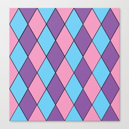 Diamonds - Pastel Canvas Print