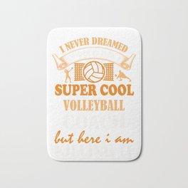 Volleyball Coach Design Coaches Girls Team Image Bath Mat