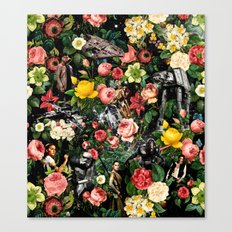 1977-2016 Starwars and Floral Pattern  Canvas Print