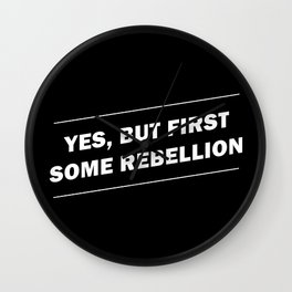Rebellion Wall Clock