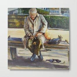 Old man in Paris Metal Print
