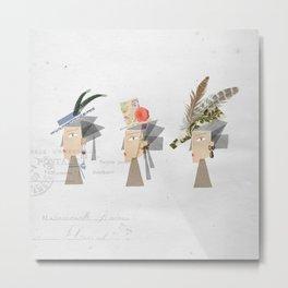 Marie Antoinette hats Metal Print
