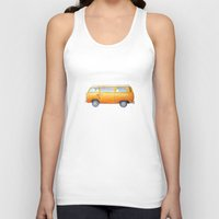 volkswagon Tank Tops featuring VW Van by Camille Welsh
