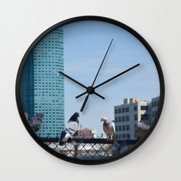 Bird Buds Wall Clock