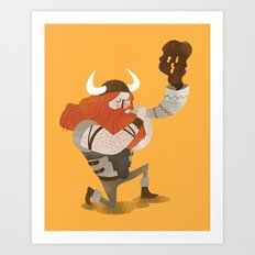 Sweet Viking Magic Art Print