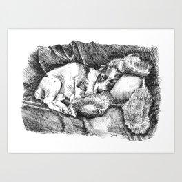 Lily's Teddybear Art Print