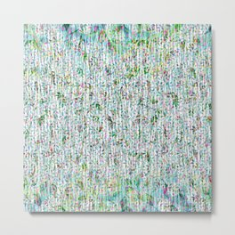 Ethereal Abstract Forest Floral Metal Print