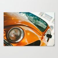 volkswagon Canvas Prints featuring Buggin' out by dnlamria