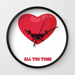 Love All The Time Wall Clock