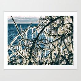 Icy Art Art Print