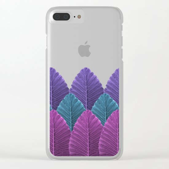 Shades of Palm Clear iPhone Case