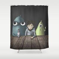 rare Shower Curtains featuring Three rare guys by Ainaragm