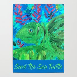 Save the Sea Turtle Poster
