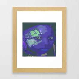 Indie Blue Framed Art Print