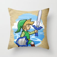 Link, The Wind Waker Throw Pillow