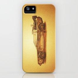 Lost in the Wild Wild West! (Golden Delorean Doubleexposure Art) iPhone Case