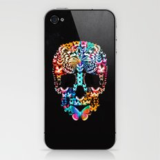 Cranium Butterflies (Black & Color Option) iPhone & iPod Skin