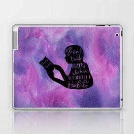 Never Trust Anyone (Lemony Snicket Quote) Laptop & iPad Skin
