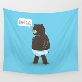 A Bear In Underwear That Just Don't Care Wall Tapestry