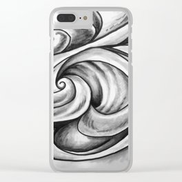 Swirl (Gray) Clear iPhone Case