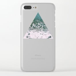 Deep Blue Sea Clear iPhone Case