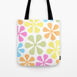 Abstract Flowers Bright Color Mix Tote Bag