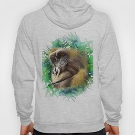 A Gorilla Watercolor Portrait Hoody