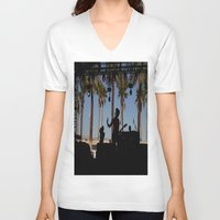 coachella V-neck T-shirts featuring EMA / Coachella by The Electric Blue / YenHsiang Liang