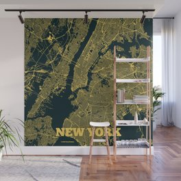 New York City Map Wall Mural